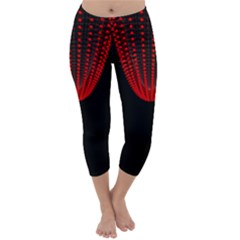 Normal Field Of An Elliptic Paraboloid Red Capri Winter Leggings