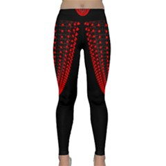 Normal Field Of An Elliptic Paraboloid Red Classic Yoga Leggings
