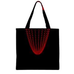 Normal Field Of An Elliptic Paraboloid Red Zipper Grocery Tote Bag