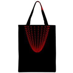 Normal Field Of An Elliptic Paraboloid Red Zipper Classic Tote Bag