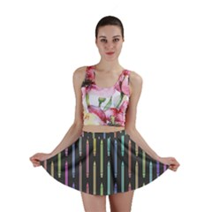 Pencil Stationery Rainbow Vertical Color Mini Skirt
