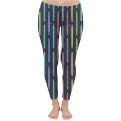 Pencil Stationery Rainbow Vertical Color Classic Winter Leggings