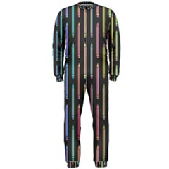 Pencil Stationery Rainbow Vertical Color OnePiece Jumpsuit (Men)