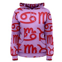 Illustrated Zodiac Red Purple Star Women s Pullover Hoodie