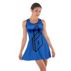Padlock Love Blue Key Cotton Racerback Dress