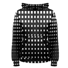 Plaid White Black Women s Pullover Hoodie
