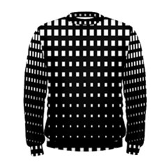 Plaid White Black Men s Sweatshirt