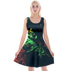 Colors Reversible Velvet Sleeveless Dress