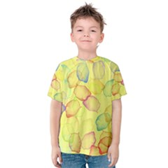 Watercolors on a yellow background                Kid s Cotton Tee