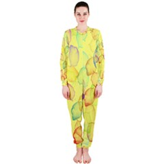 Watercolors on a yellow background                OnePiece Jumpsuit (Ladies)