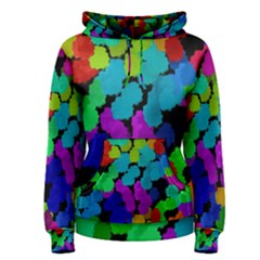 Colorful strokes on a black background               Women s Pullover Hoodie