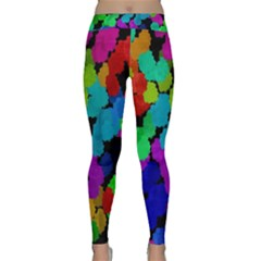 Colorful strokes on a black background               Yoga Leggings