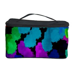 Colorful strokes on a black background               Cosmetic Storage Case