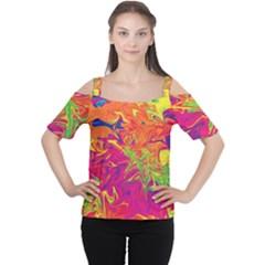 Colors Women s Cutout Shoulder Tee