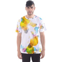 Lamp Color Rainbow Light Men s Sport Mesh Tee