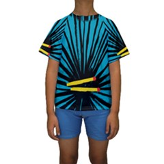 Match Cover Matches Kids  Short Sleeve Swimwear