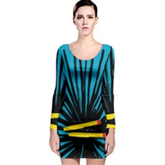 Match Cover Matches Long Sleeve Bodycon Dress