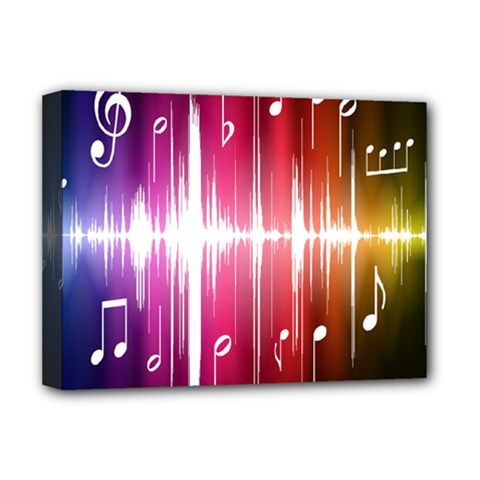 Music Data Science Line Deluxe Canvas 16  x 12