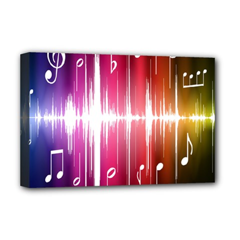 Music Data Science Line Deluxe Canvas 18  x 12