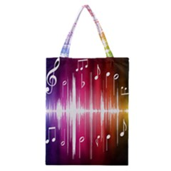 Music Data Science Line Classic Tote Bag