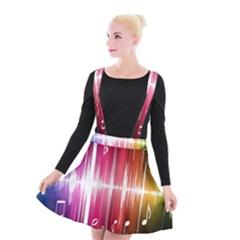 Music Data Science Line Suspender Skater Skirt