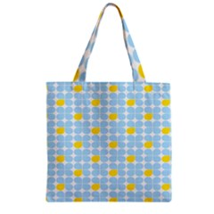 Retro Stig Lindberg Vintage Posters Yellow Blue Zipper Grocery Tote Bag