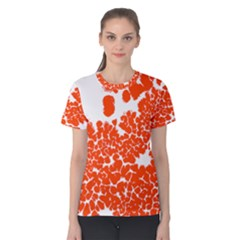 Red Spot Paint White Polka Women s Cotton Tee