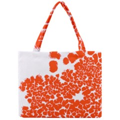 Red Spot Paint White Polka Mini Tote Bag