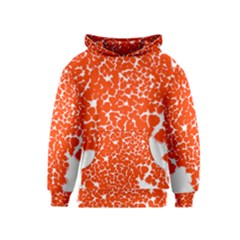 Red Spot Paint White Kids  Pullover Hoodie