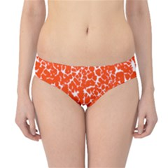 Red Spot Paint White Hipster Bikini Bottoms