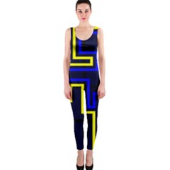 Tron Light Walls Arcade Style Line Yellow Blue OnePiece Catsuit