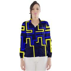 Tron Light Walls Arcade Style Line Yellow Blue Wind Breaker (Women)