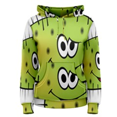 Thorn Face Mask Animals Monster Green Polka Women s Pullover Hoodie
