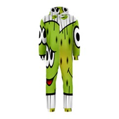 Thorn Face Mask Animals Monster Green Polka Hooded Jumpsuit (Kids)