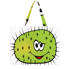 Thorn Face Mask Animals Monster Green Polka Large Tote Bag