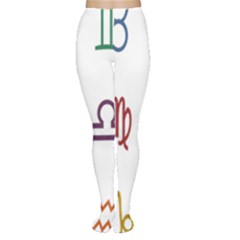 Twelve Signs Zodiac Color Star Women s Tights