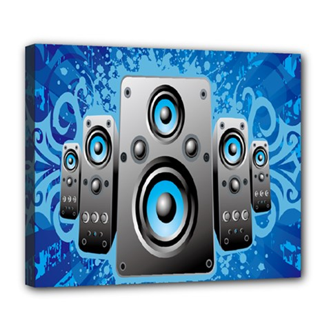 Sound System Music Disco Party Deluxe Canvas 24  x 20