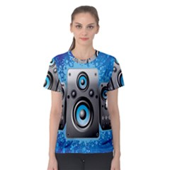 Sound System Music Disco Party Women s Sport Mesh Tee