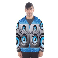 Sound System Music Disco Party Hooded Wind Breaker (Men)
