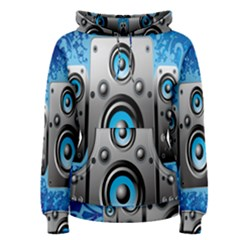 Sound System Music Disco Party Women s Pullover Hoodie