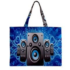 Sound System Music Disco Party Zipper Mini Tote Bag