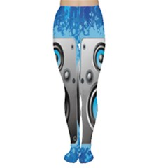 Sound System Music Disco Party Women s Tights