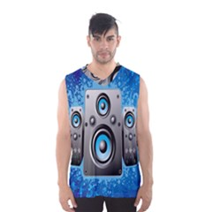 Sound System Music Disco Party Men s Basketball Tank Top