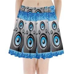 Sound System Music Disco Party Pleated Mini Skirt
