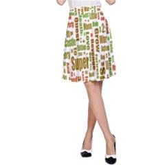 Screen Source Serif Text A-Line Skirt
