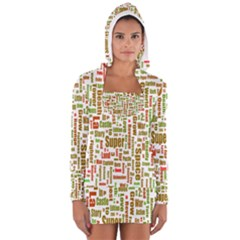 Screen Source Serif Text Women s Long Sleeve Hooded T-shirt
