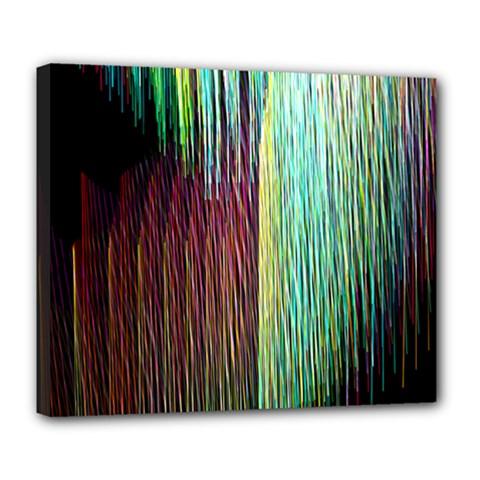 Screen Shot Line Vertical Rainbow Deluxe Canvas 24  x 20