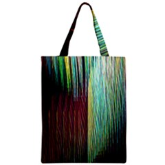 Screen Shot Line Vertical Rainbow Zipper Classic Tote Bag