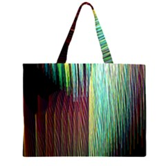 Screen Shot Line Vertical Rainbow Large Tote Bag