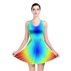 View Max Gain Resize Flower Floral Light Line Chevron Reversible Skater Dress